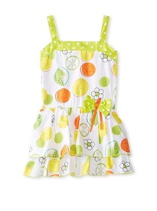 61% OFF A.B.S. by Allen Schwartz Girl's 2-6X Citrus Fruits Sundress (White/Green/Yellow)