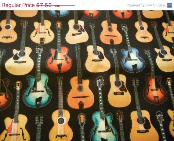 Guitar FabricHARD FIND by Altcollect on Etsy, $5.25