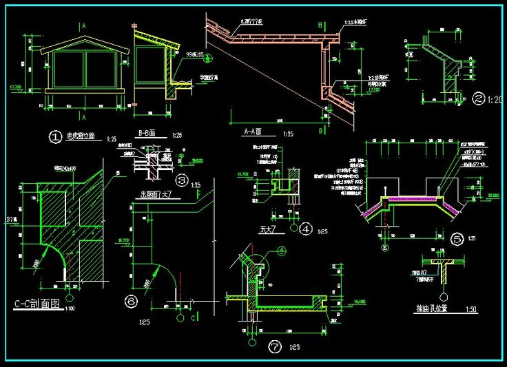 Architecture Drawing Symbols ☆【architecture details】☆-cad library | autocad blocks