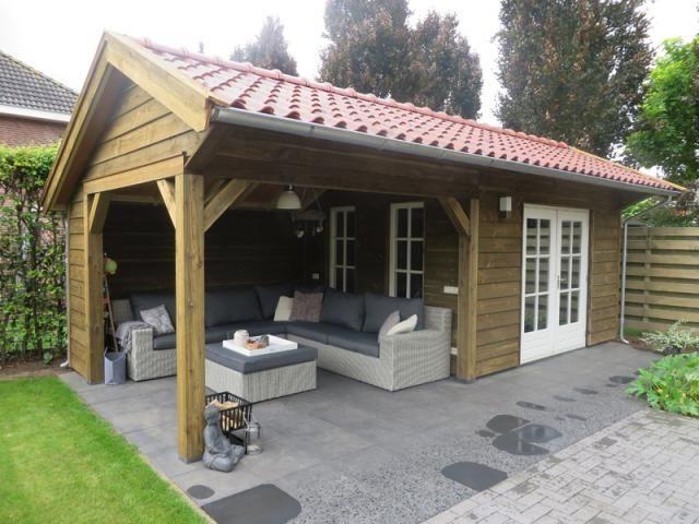 4. Serre tuinhuis met terrasdeuren en overkapping 26m2