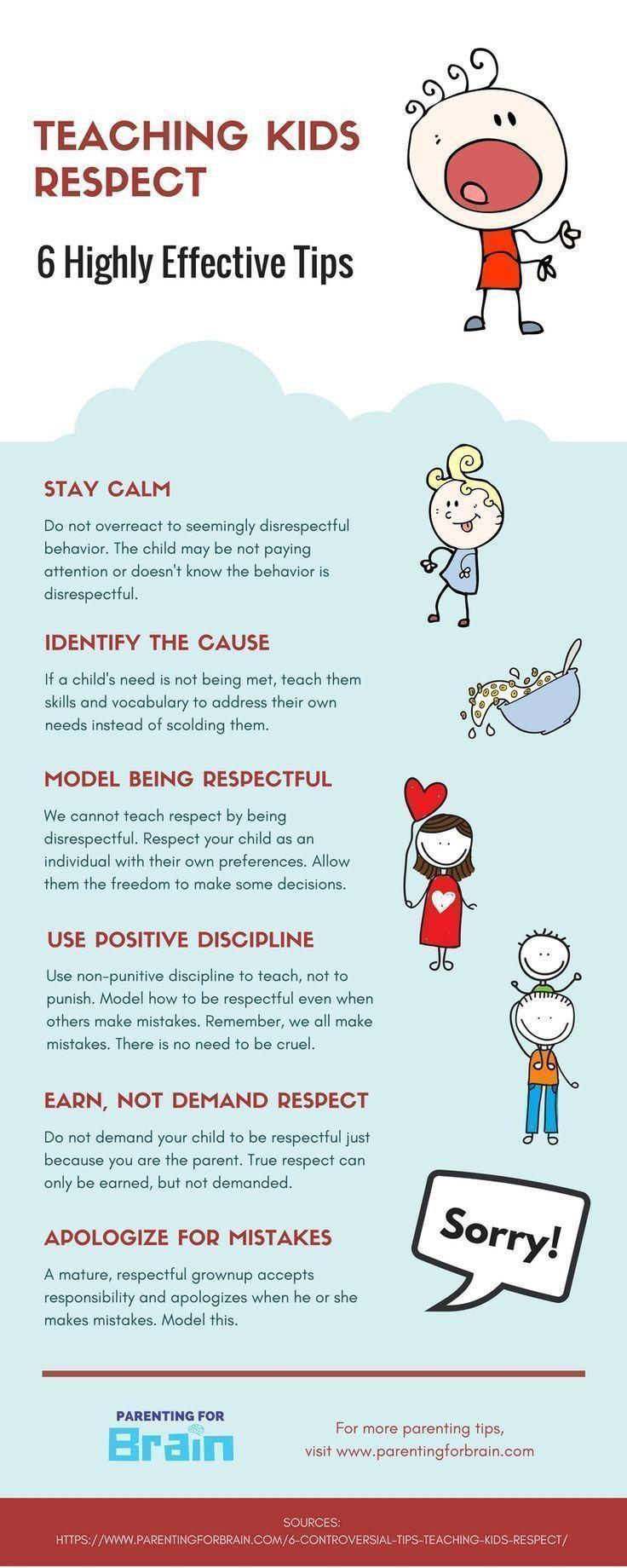 Respect Parents - Discipline For Kids #Parenting #Discipline #infographic #parentingtipsforteens #ParentingDiscipline #parentinginfographic