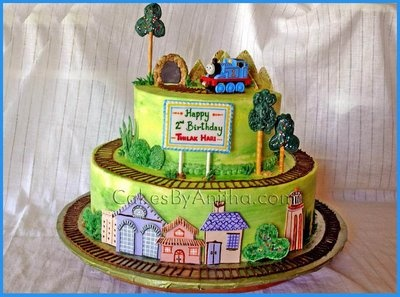 Cake Decor Thomas : All the decorations are edible made out of sugar fondant ...