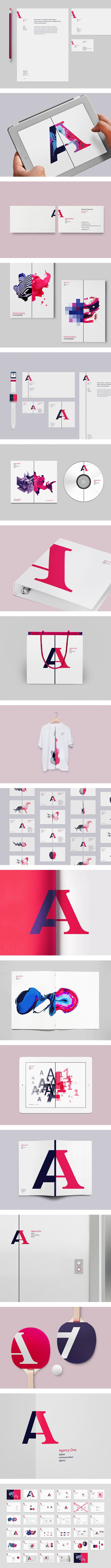 Agency One Identity by Vova Lifinov. 15 Striking Examples of Identity. #inspiration #design #identity #branding