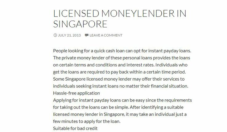 We have licensed money lenders waiting for you!