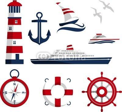Wektor: Nautical icons