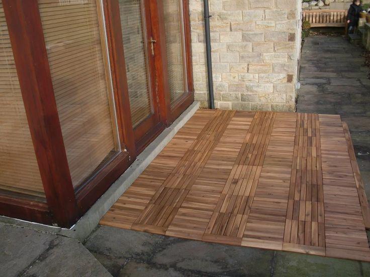 kleines akazienholz terrassenplatten gefaßt bild oder afceaaedabaecaa