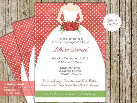 15 Mustsee Christmas Bridal Showers Pins – Christmas Wedding Shower Invitations