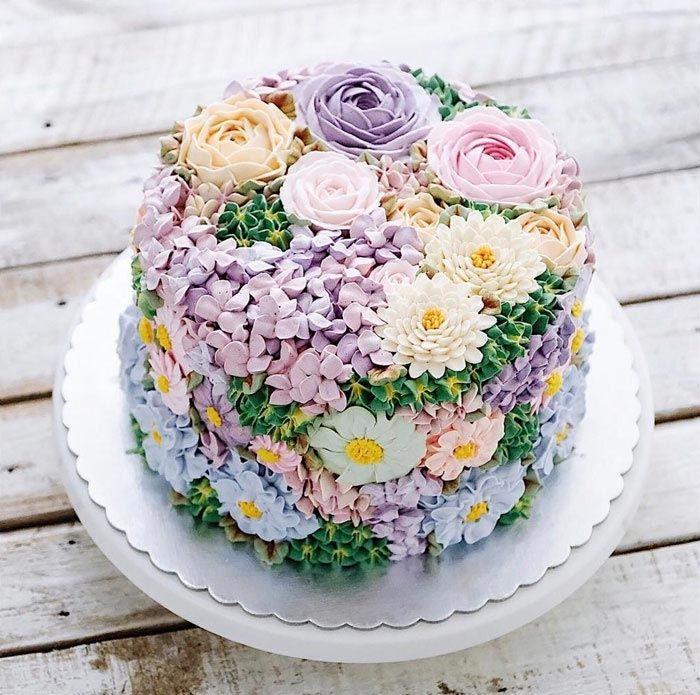 Картинки торт с цветами, картинки