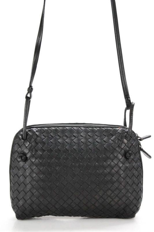 aecc328ff8c3b Bottega Veneta Intrecciato Crossbody Small Handbag Gray Woven Leather