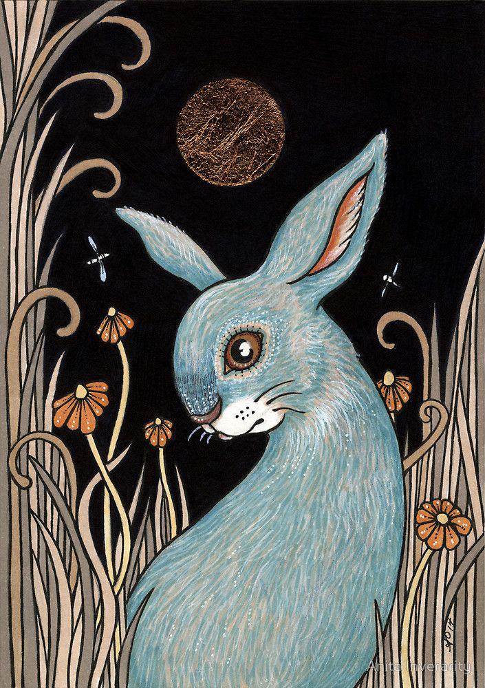"""Bunny Blue"" by Anita Inverarity | Redbubble"