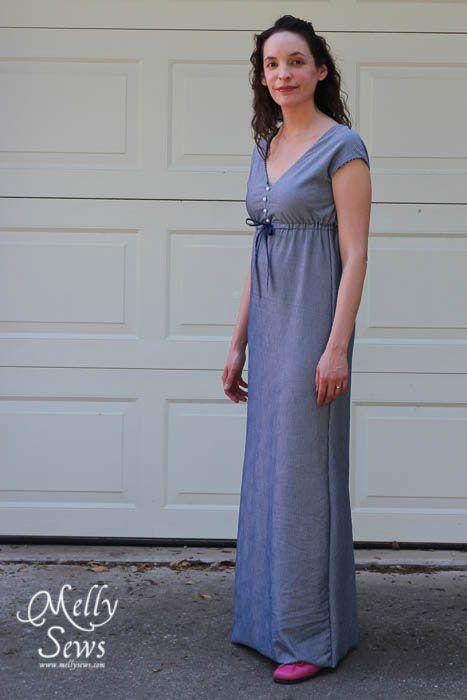 Maxi Sundress Tutorial and pattern- made from sheets