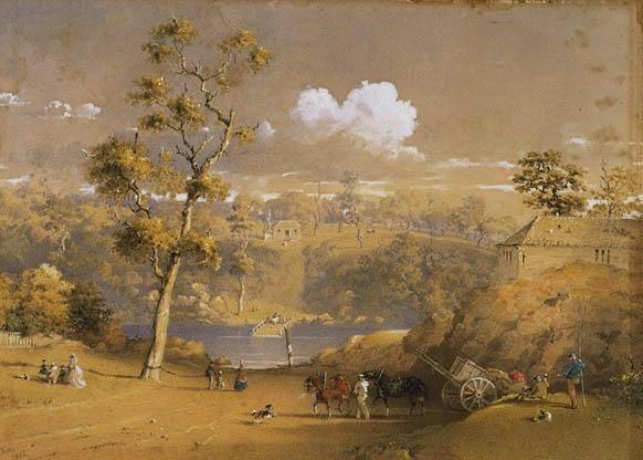 The Yarra Crossing at Punt Road, 1868