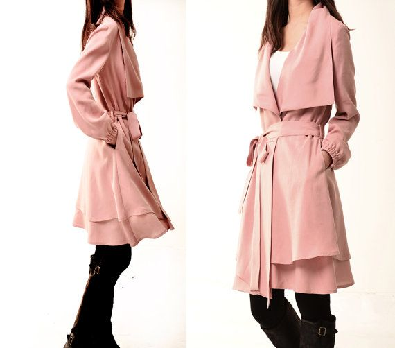 Breakfast at Tiffany's  Tencel layered trench by idea2lifestyle, $88.00