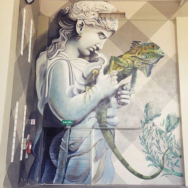 Best STREET ART Images On Pinterest Street Art Freeze - Artist paints incredible seaside murals balanced on surfboard