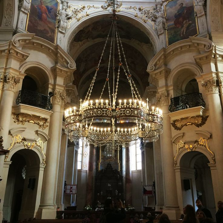 Beautiful shot of our renovated chandelier in St. Nicholas Church in Prague by @joble. Get to know more about our installation in St. Nicholas Church by clicking the link.