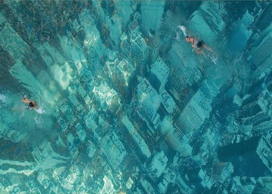 Swimming over a sunken city, Bhakti Park, Wadala