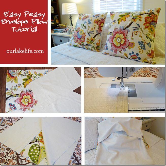 Easy Sew Envelope Pillows