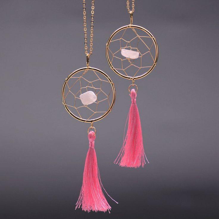 Gemstone Dream Catcher Necklaces