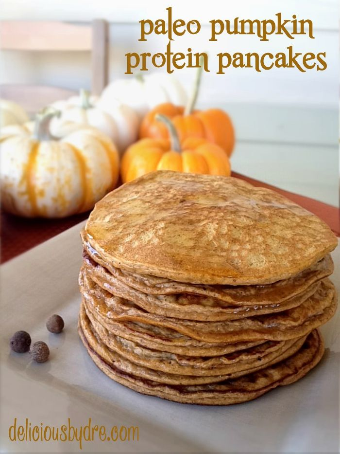 paleo pumpkin protein pancakes I just made it with sweet potatoes...yum!!!! Winner!!! So yummy and so healthy