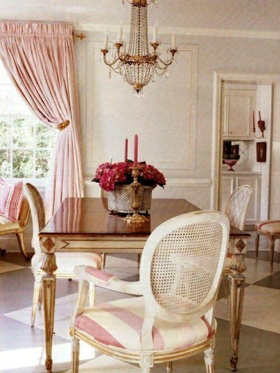 PASTEL PINK silk curtain