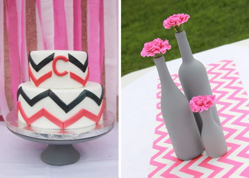 Pink And Grey Baby Shower Details