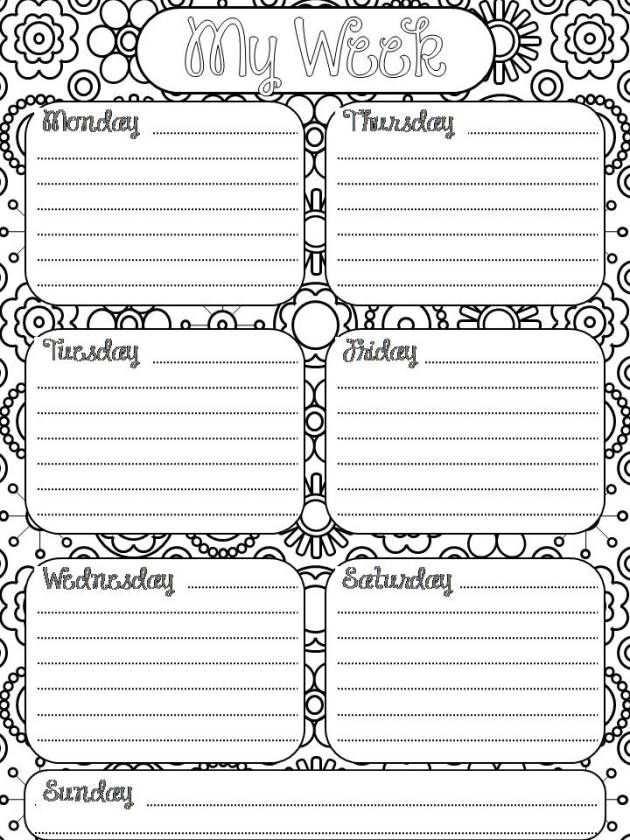 51 best Free Monthly/Weekly Printables images on Pinterest Free