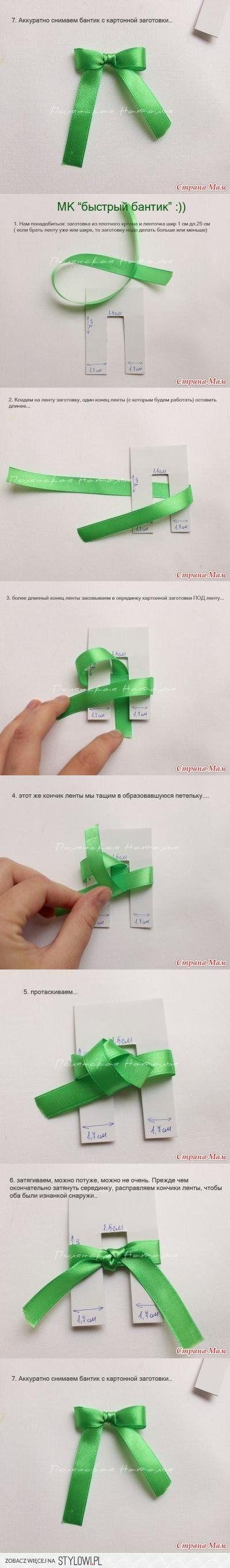 DIY Easy Ribbon Bow DIY Projects   UsefulDIY.com na Stylowi.pl