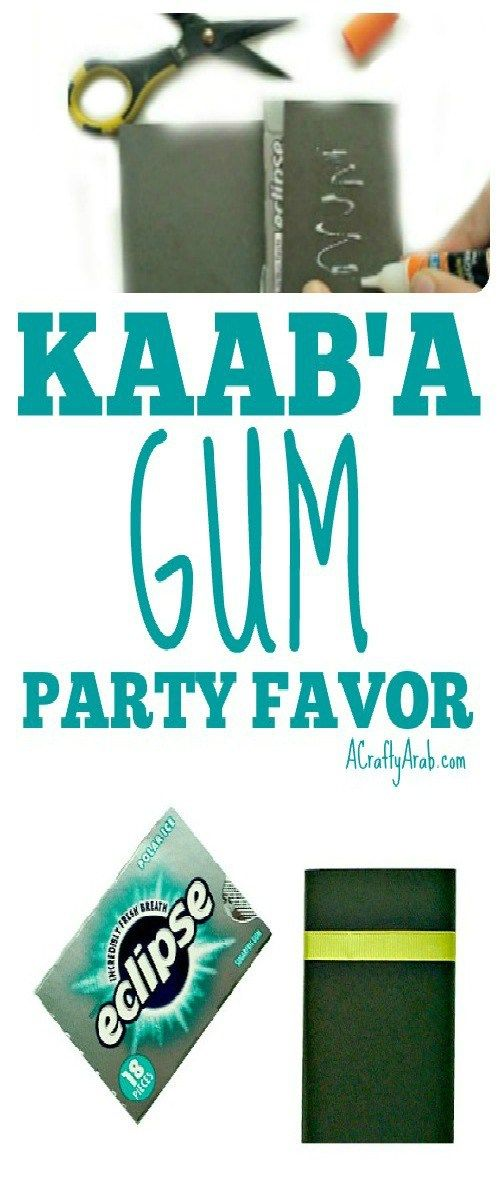 A Crafty Arab:  Kaab'a Gum Party Favor {Tutorial}. Eid Al Adha will occur on September 2, 2017 and we are getting ready with these Kaab'a gum party favors.  Eid Al Adha is celebrated by Muslims worldwide to commemorate the willingness of Prophet Ibrahim (Abraham) to sacrifice his son, as an act of submission to God's command. It falls on the 10th day …