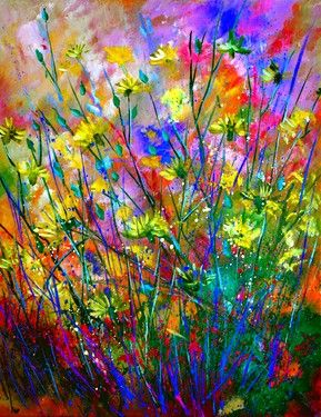"Saatchi Art Artist Pol Ledent; Painting, ""wilflowers SOLD"" #art"