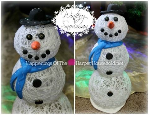 String Snowman Tutorial
