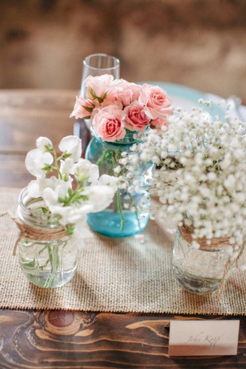 Mesas sin mantel para boda campestre : Bodaplanes.com