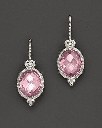 I really love these - so elegant!  Pink gemstone earrings.  Via @devalera. #earrings #pink