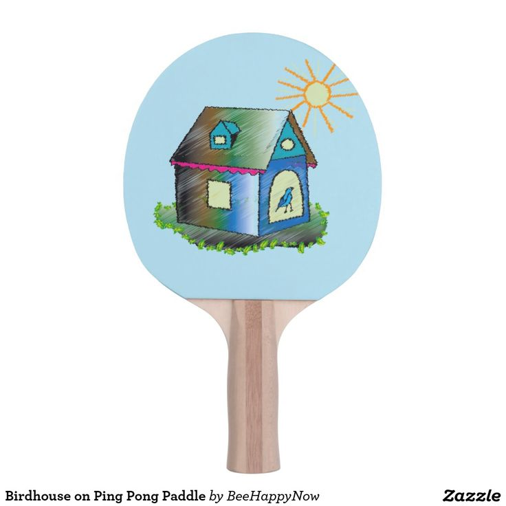 Birdhouse on Ping Pong Paddle