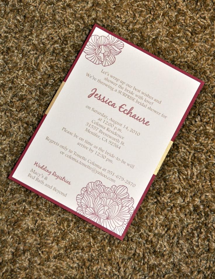 MKF Creations: Bridal Shower Invitations-Jessica
