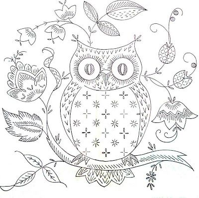 From Stitchy Britches (blogspot).  Owls and bohemian decor go together in my mind.