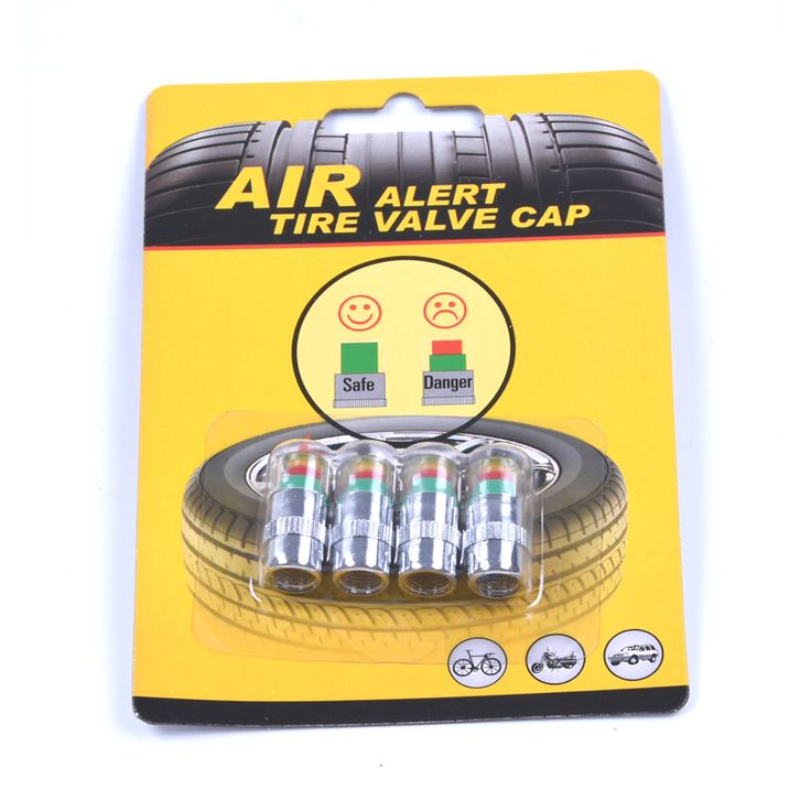 4 pcs/Lot 32 Psi 2.2bar Auto Ban cap tekanan Ban Mobil Air Pressure Monitor Alert Indikator Diagnostik Gauge Alat