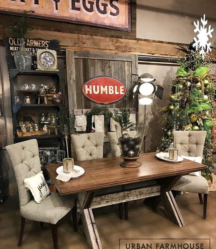 194 best tables images on pinterest farmhouse design for Urban farmhouse kitchen