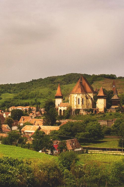 Biertan, one of the many Saxon villages with fortified churches,Transylvania…