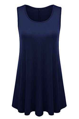 Womens Sleeveless Flared Hem Tunic Top X-Large Navy  Special Offer: $12.99  166 Reviews These basic tunic tank tops have a customizable look, are super soft Available in many bright colors Can be worn in the office, home, beach, the club and other occasions due to its simple design...