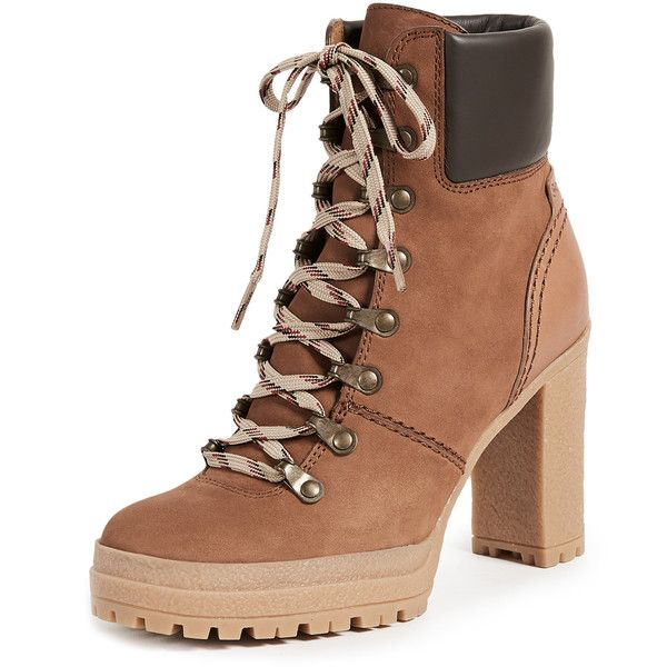bbb3badec8d See by Chloe Eileen Lace Up Boots ($395) ❤ liked on Polyvore ...