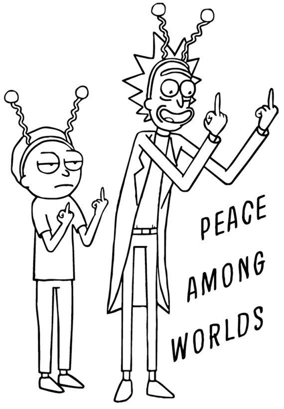 Rick and Morty  Peace Among Worlds  Vinyl от BlackCatDesignsCo