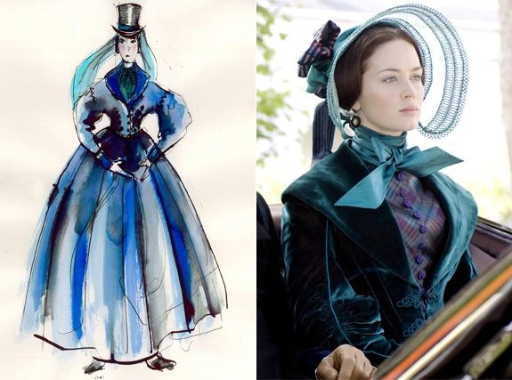 'Young Victoria' - Sandy Powell Though British costume designer Sandy Powell wasn't very knowledgeable about Queen Victoria's style, she didn't let that hold her back from diving into the evolution of royal 19th century style. 'She's seen in huge sleeves and a lot of fuss. I really enjoyed making her look more extreme and slightly ridiculous,' Powell said of actress Emily Blunt's character.
