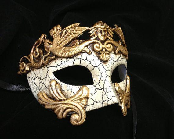 Mens Masquerade Mask for Men Roman by MasquerademaskStudio on Etsy, $28.95