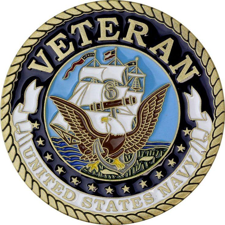 U.S. Navy Veteran Coin - Front