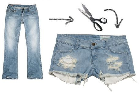 DIY your old jeans into cut-offs!
