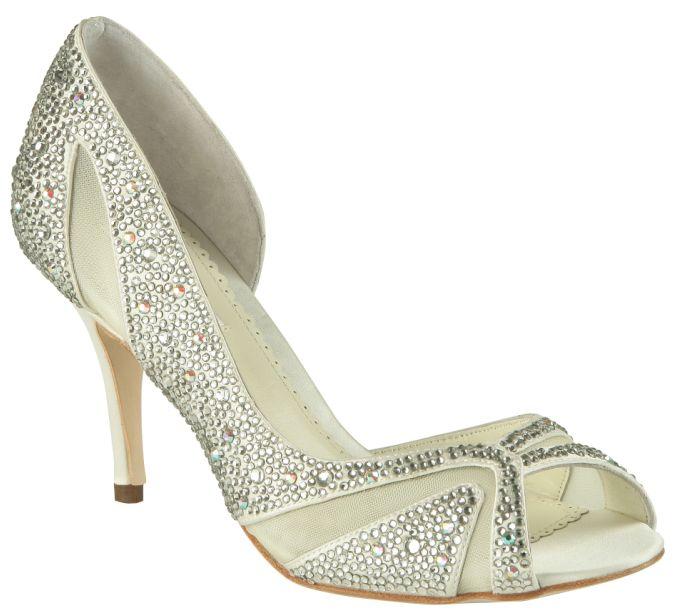 "Ivory Benjamin Adams Catherine Bridal Shoes $375.00 ""Royal"