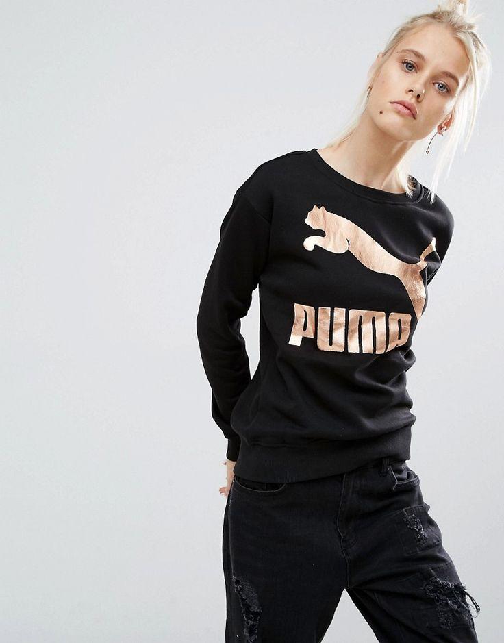 Puma Sweatshirt With Gold Logo