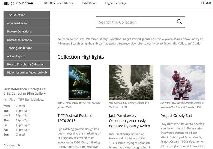 http://collection.tiff.net/mwebcgi/mweb TIFF Canadian Film Reference Library Toronto