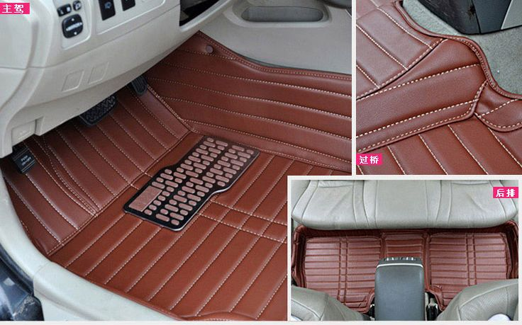 customize car floor mats foot rugs set for jac s3/5/6 mazda M3/6 leather carpet auto pad thick anti-slip shock-absorbing cc ix35