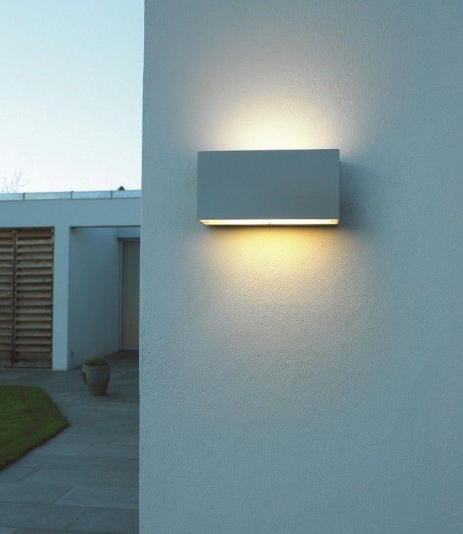 Asker Up/Down Wall Light Aluminium, by Norway's Norlys